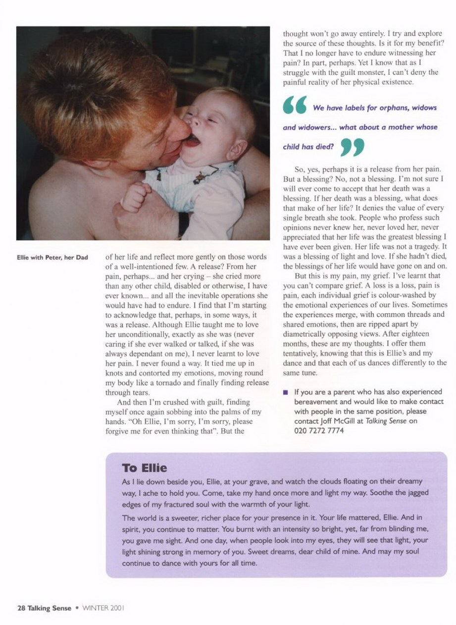 Page 3 small of Sarah Settelen's article Remembering Ellie